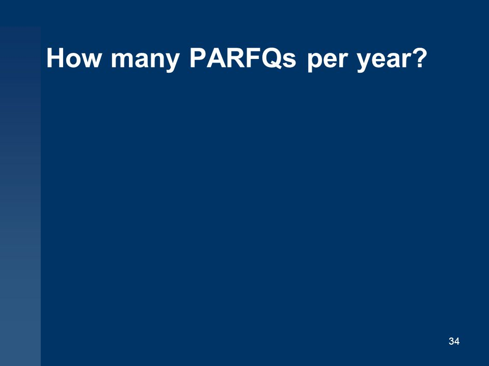 How many PARFQs per year