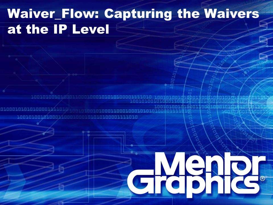Waiver_Flow: Capturing the Waivers at the IP Level