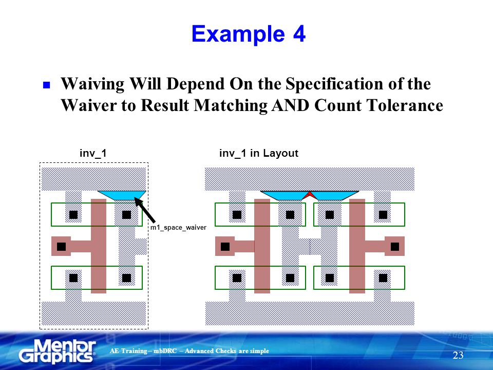 Example 4 Waiving Will Depend On the Specification of the Waiver to Result Matching AND Count Tolerance.