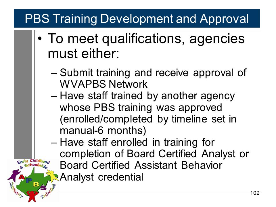 PBS Training Development and Approval