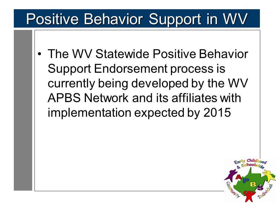 Positive Behavior Support in WV