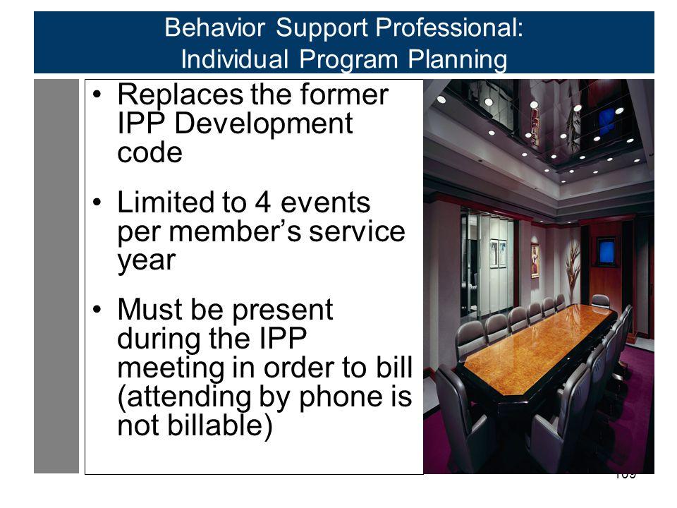 Behavior Support Professional: Individual Program Planning