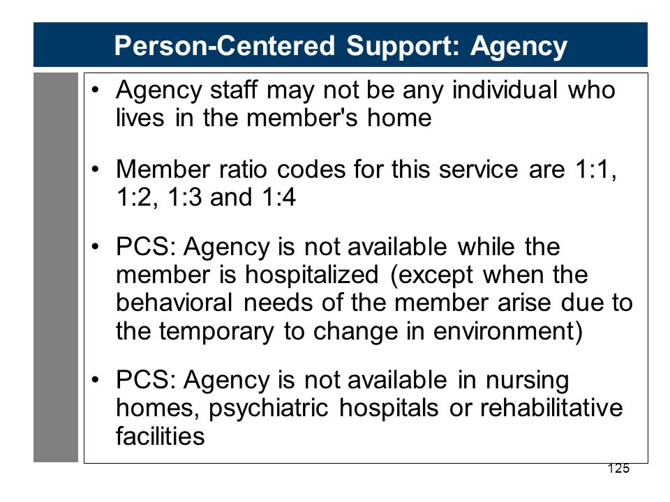 Person-Centered Support: Agency