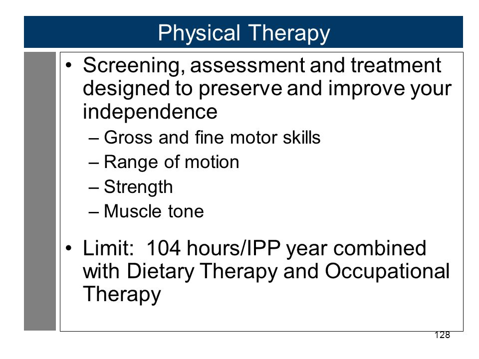 Physical Therapy Screening, assessment and treatment designed to preserve and improve your independence.