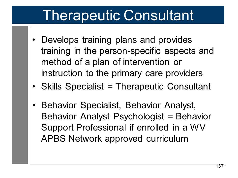 Therapeutic Consultant