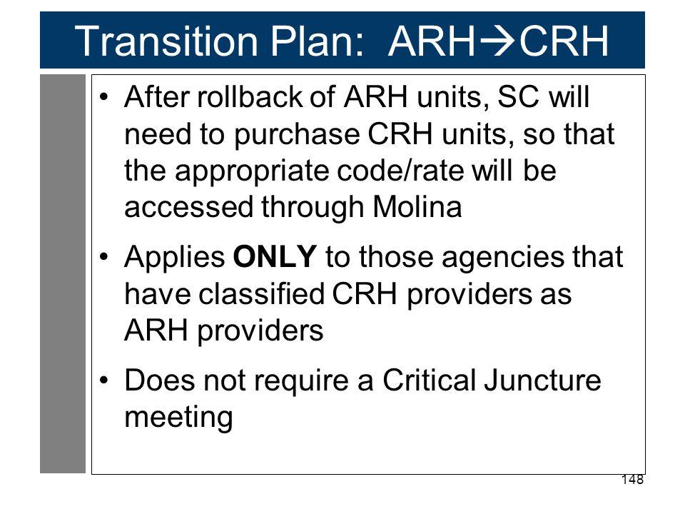 Transition Plan: ARHCRH