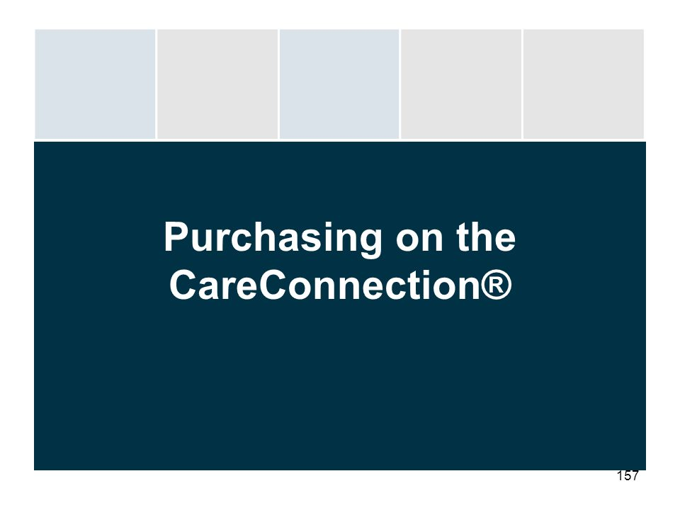 Purchasing on the CareConnection®