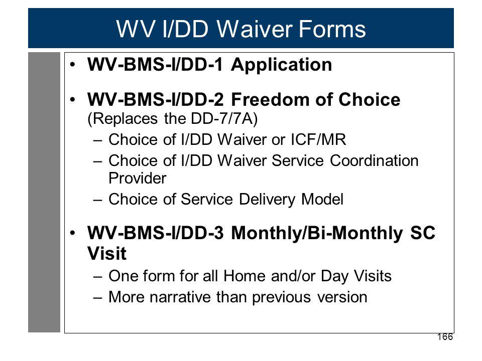 WV I/DD Waiver Forms WV-BMS-I/DD-1 Application
