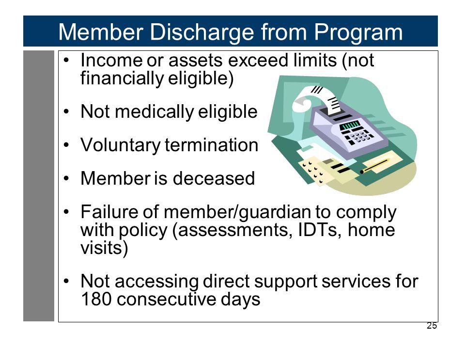Member Discharge from Program