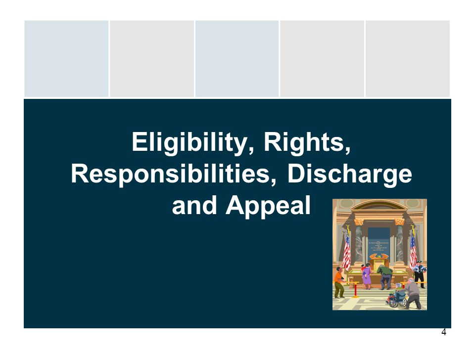 Eligibility, Rights, Responsibilities, Discharge and Appeal