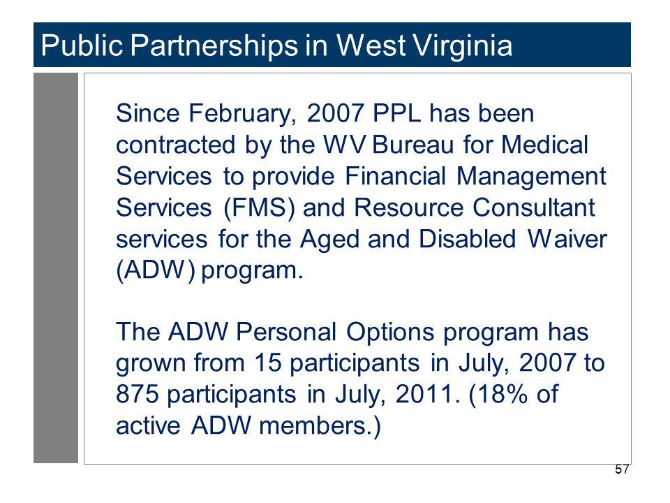 Public Partnerships in West Virginia