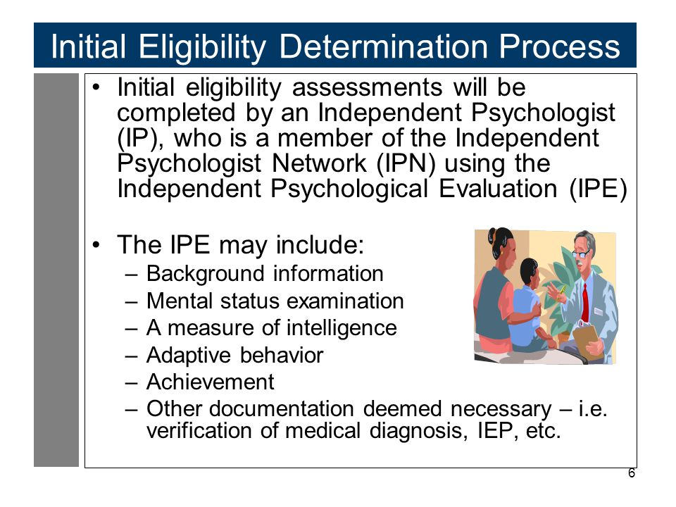 Initial Eligibility Determination Process