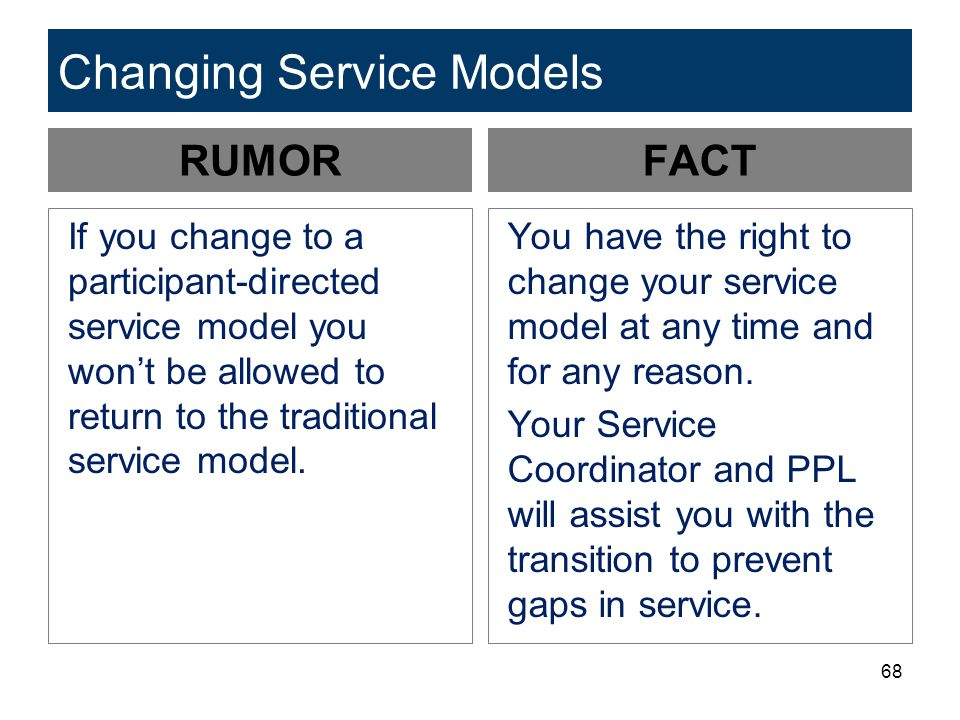 Changing Service Models