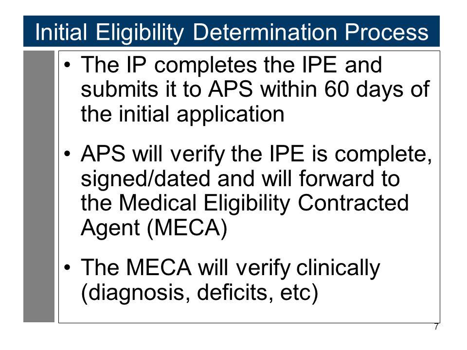 Initial Eligibility Determination Process