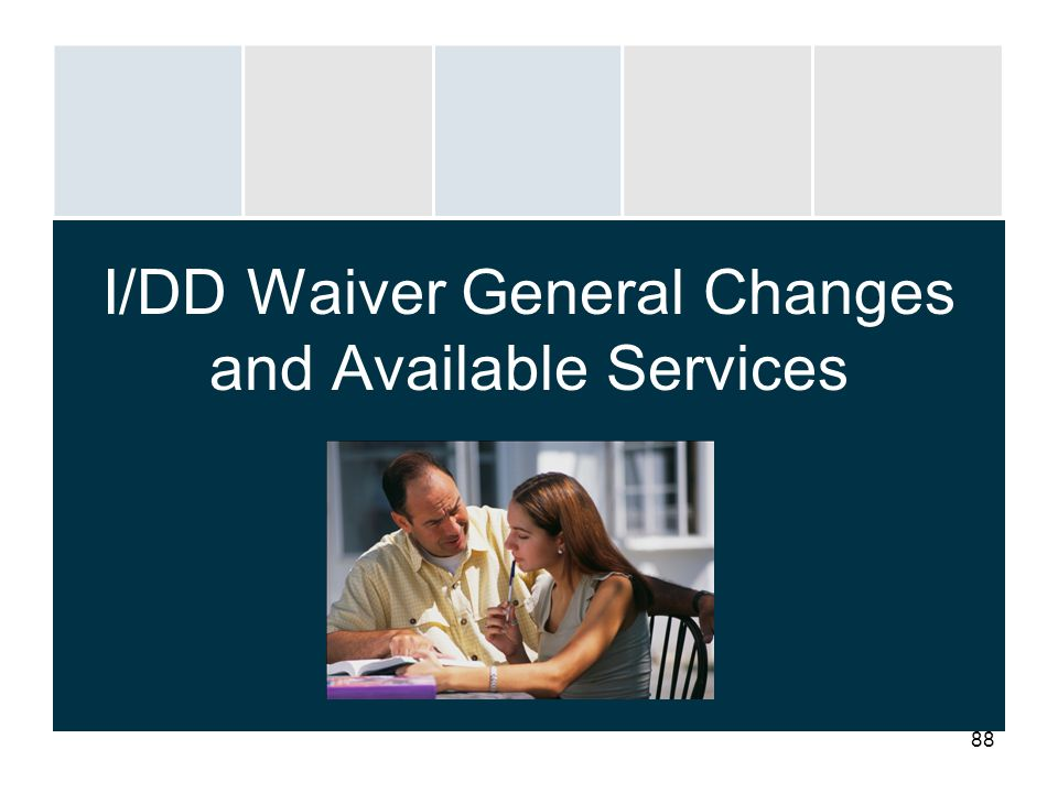 I/DD Waiver General Changes and Available Services