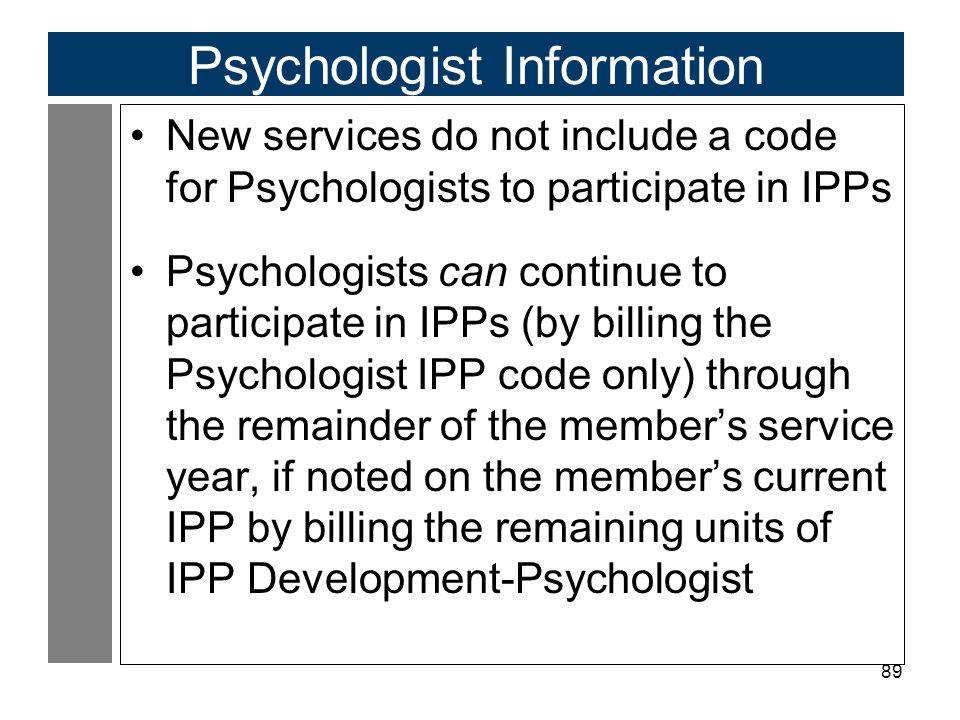 Psychologist Information