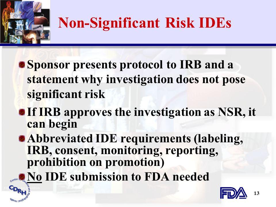 Non-Significant Risk IDEs