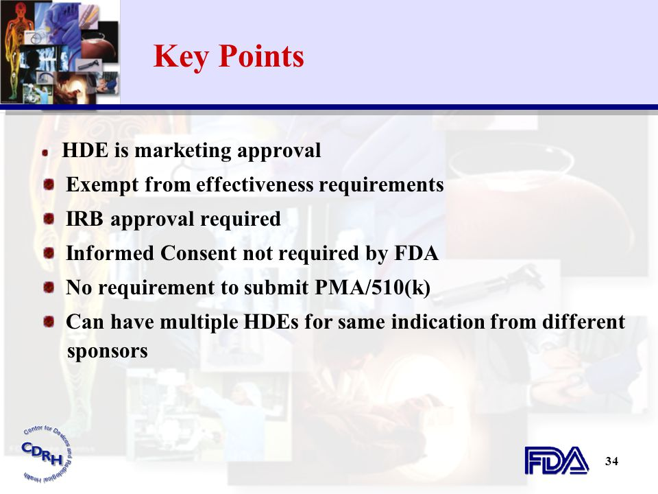 Key Points Exempt from effectiveness requirements