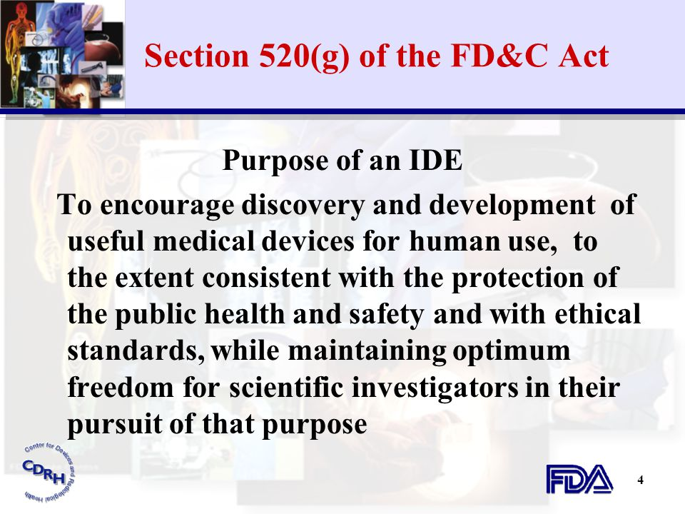 Section 520(g) of the FD&C Act