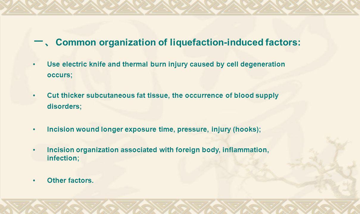 一、Common organization of liquefaction-induced factors: