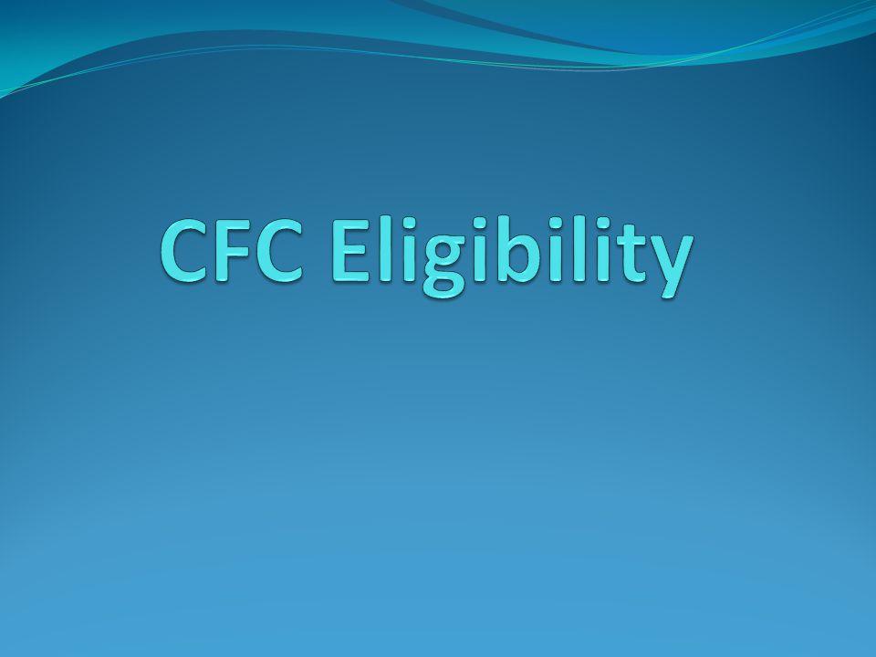 CFC Eligibility