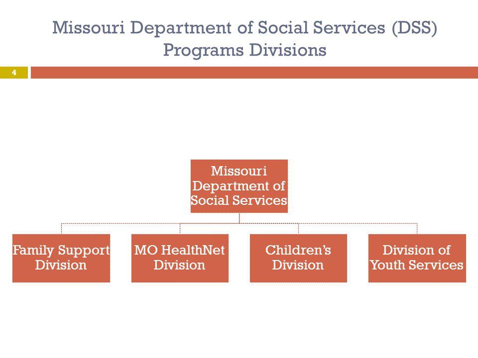 Missouri Department of Social Services (DSS) Programs Divisions