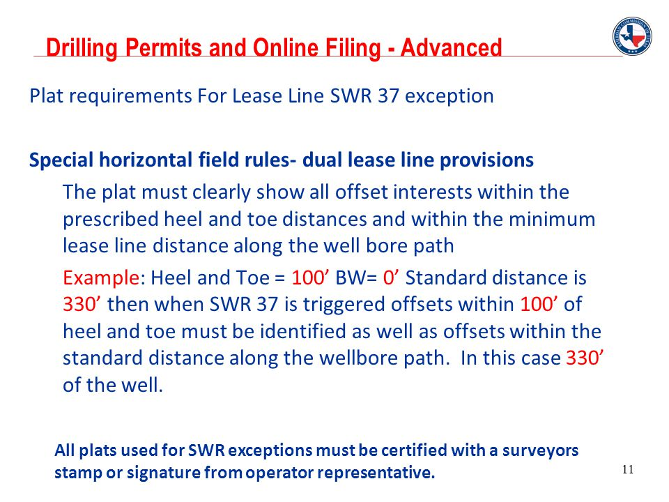 Drilling Permits and Online Filing - Advanced