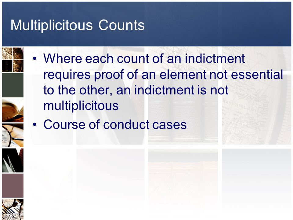 Multiplicitous Counts