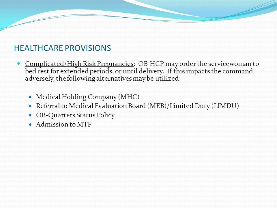 HEALTHCARE PROVISIONS