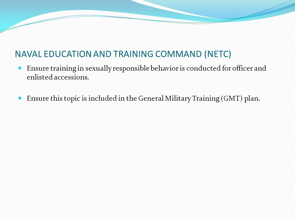 NAVAL EDUCATION AND TRAINING COMMAND (NETC)