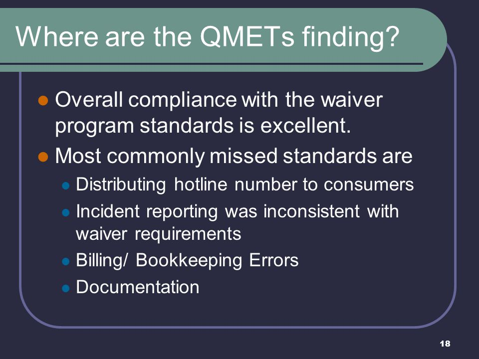 Where are the QMETs finding
