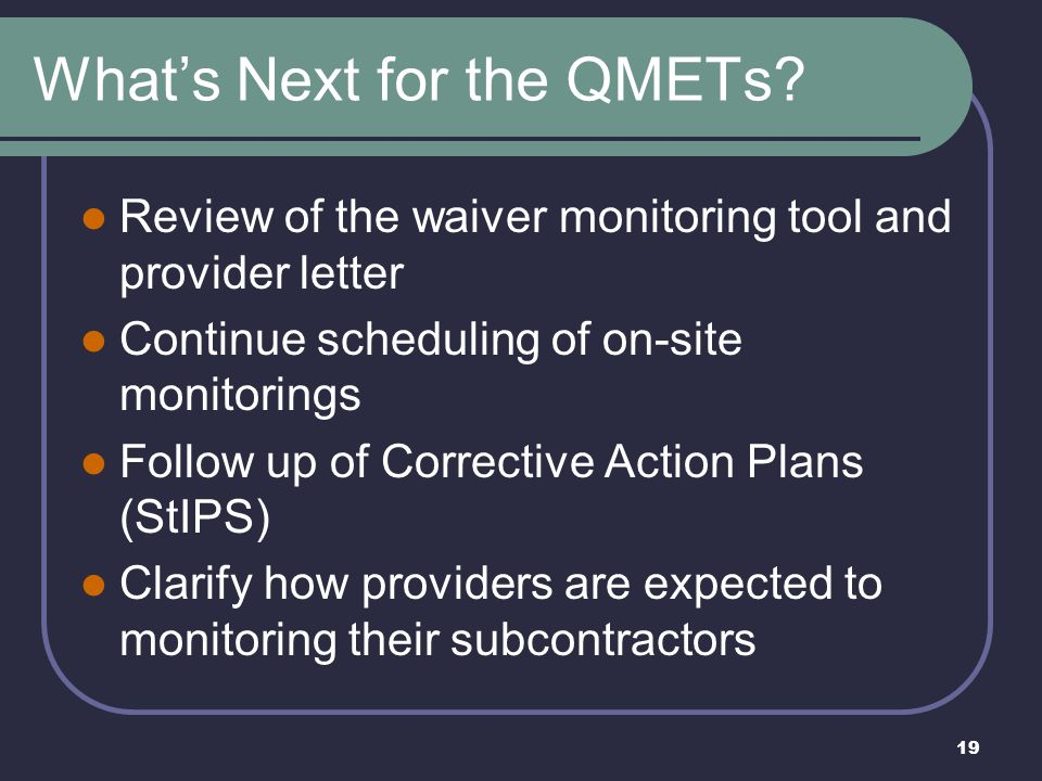 What's Next for the QMETs