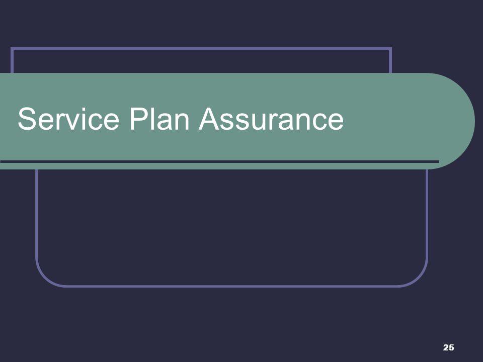 Service Plan Assurance