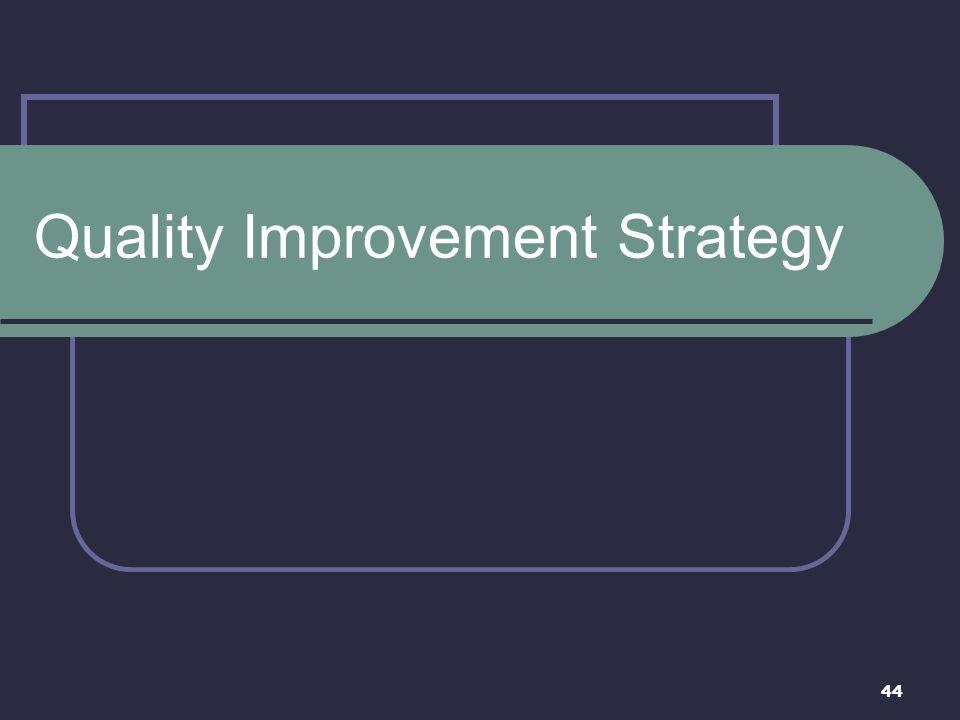 Quality Improvement Strategy