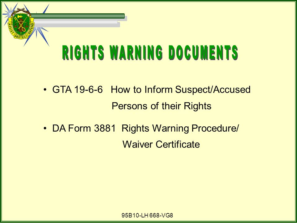RIGHTS WARNING DOCUMENTS