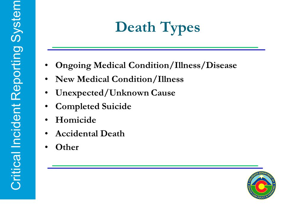 Death Types Ongoing Medical Condition/Illness/Disease