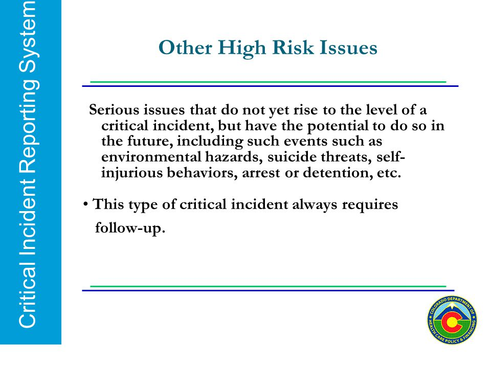 Other High Risk Issues