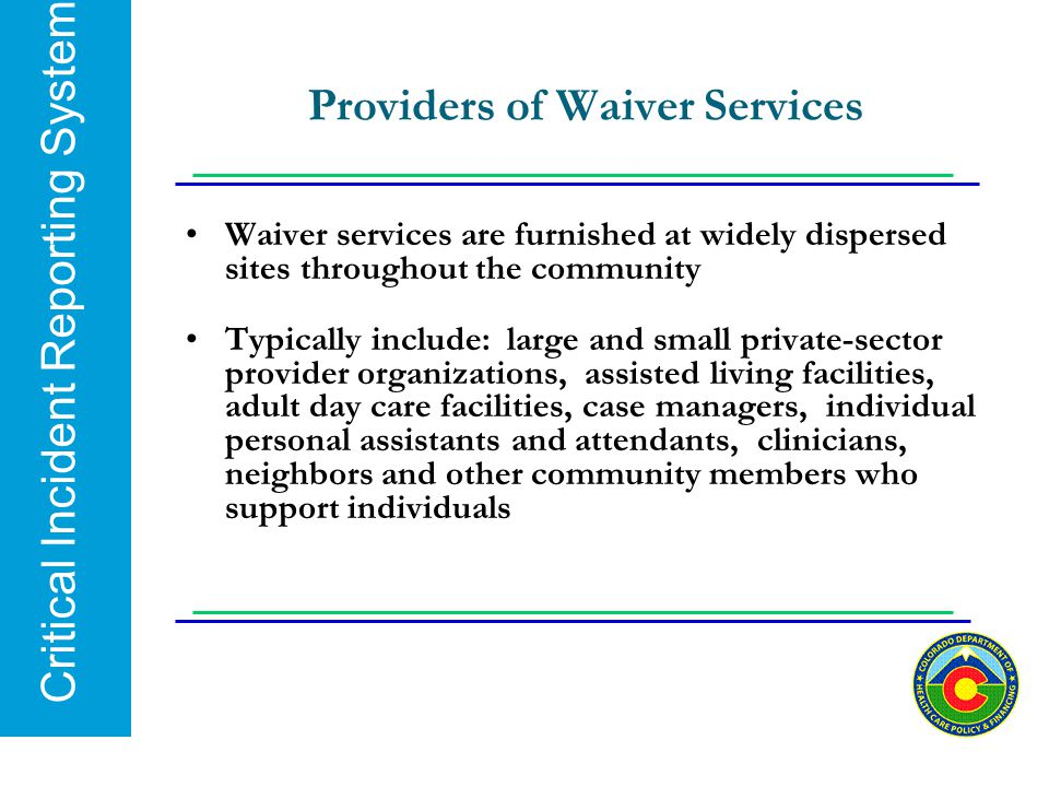 Providers of Waiver Services