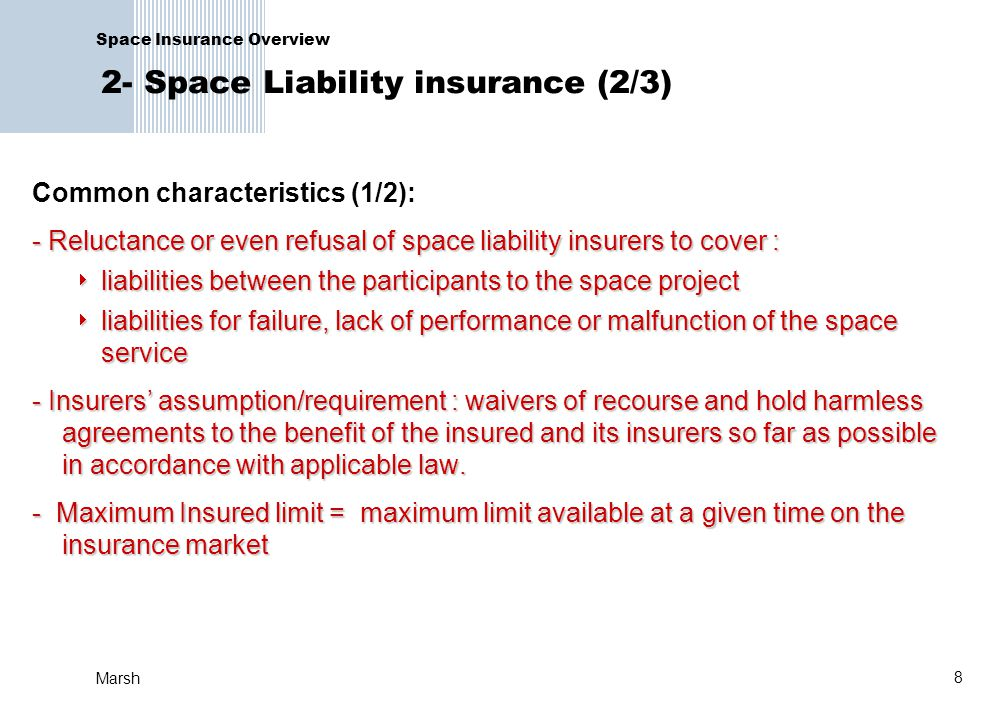 Space Insurance Overview 2- Space Liability insurance (2/3)