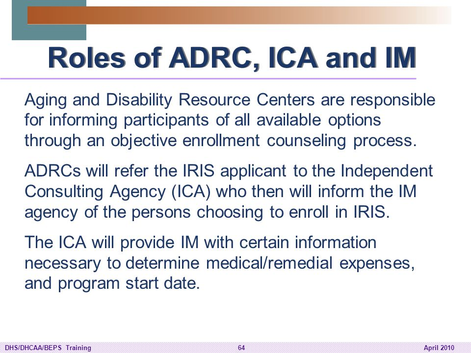 Roles of ADRC, ICA and IM