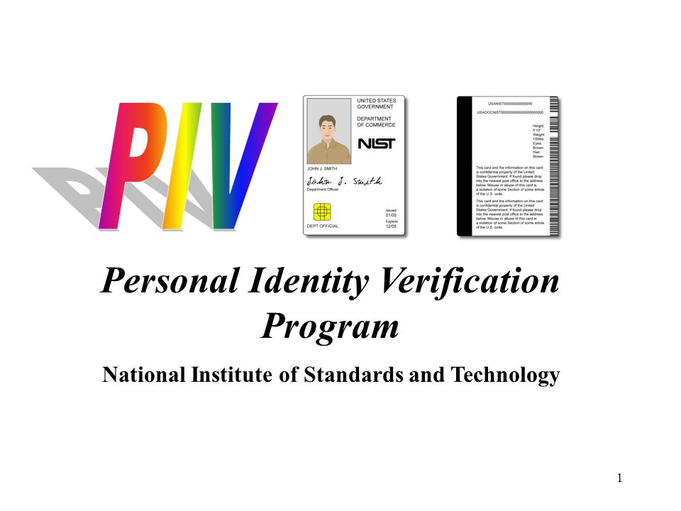 Personal Identity Verification Program
