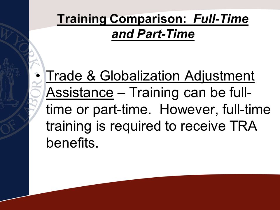 Training Comparison: Full-Time and Part-Time