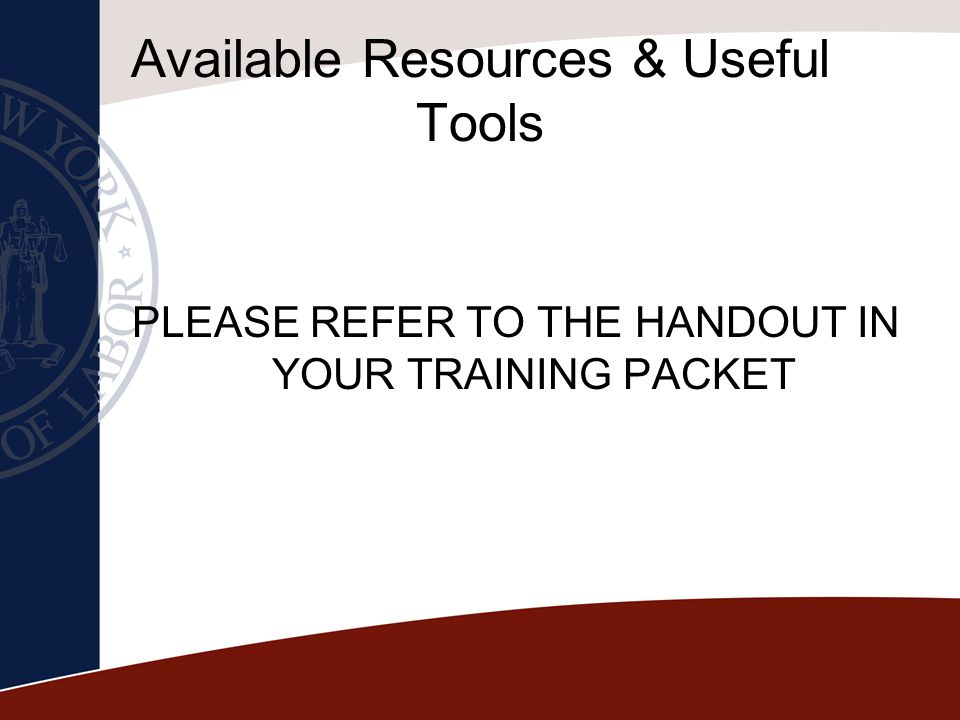 Available Resources & Useful Tools
