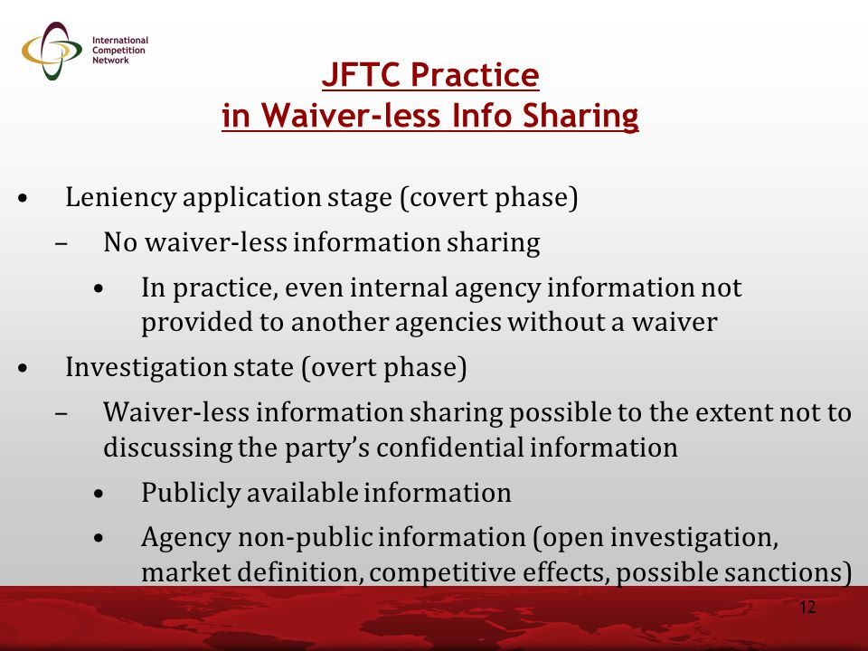 in Waiver-less Info Sharing