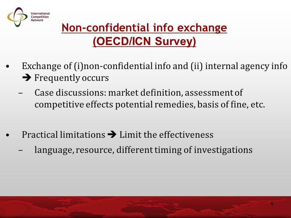 Non-confidential info exchange