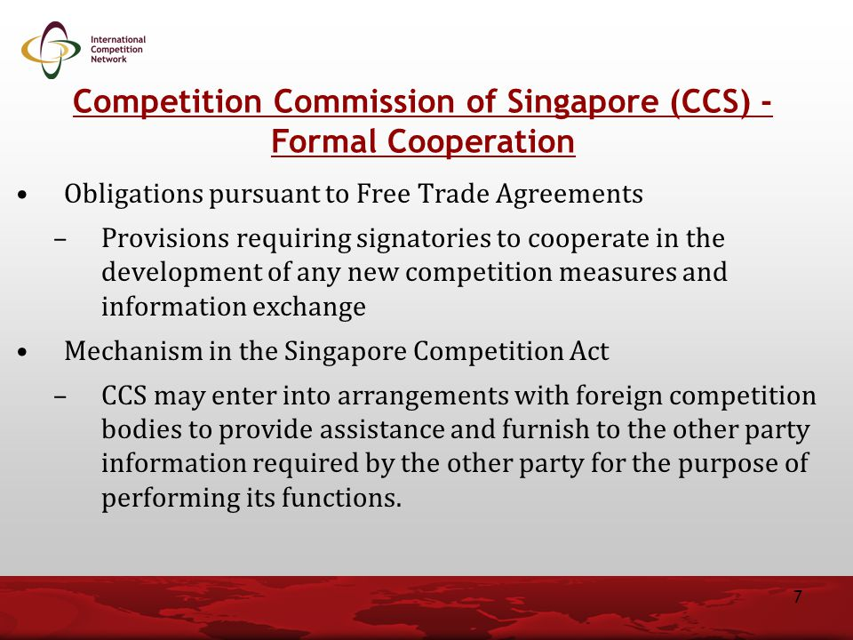 Competition Commission of Singapore (CCS) - Formal Cooperation