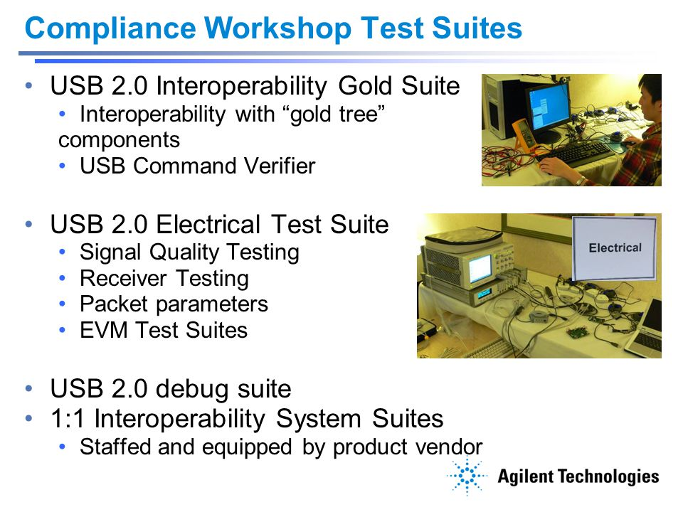 Compliance Workshop Test Suites
