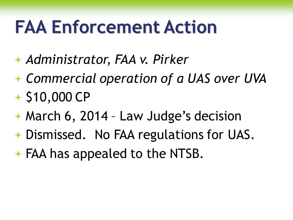 FAA Enforcement Action