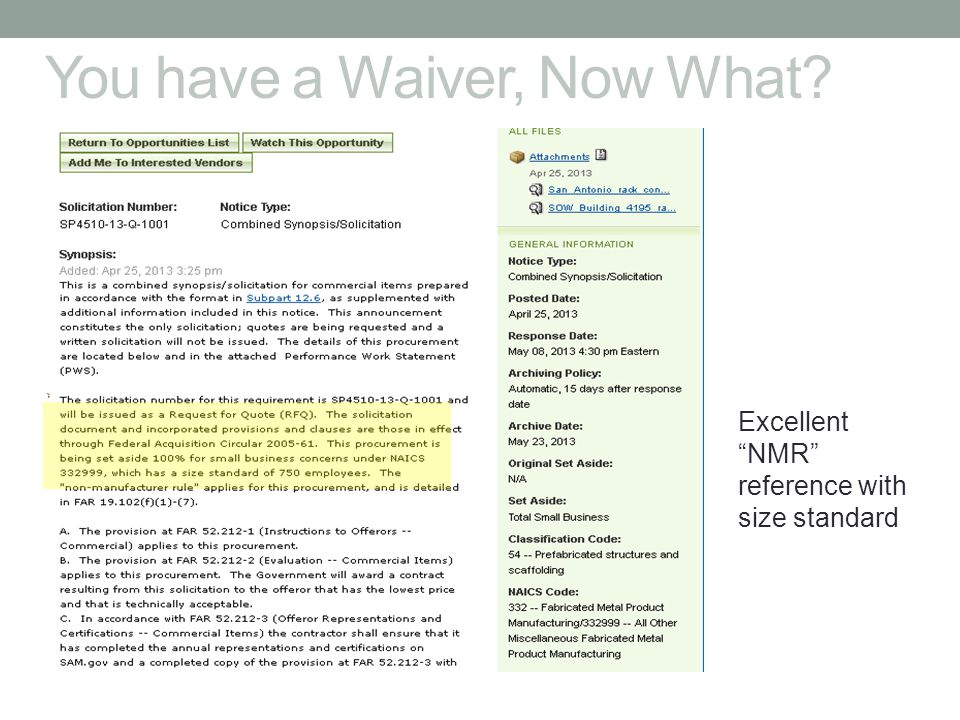 You have a Waiver, Now What