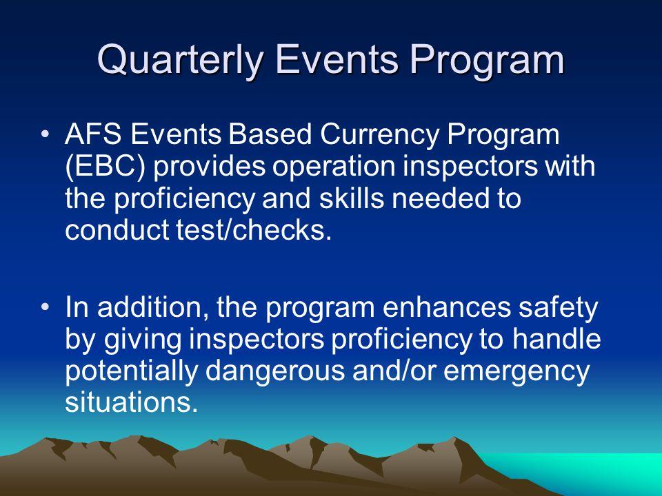 Quarterly Events Program